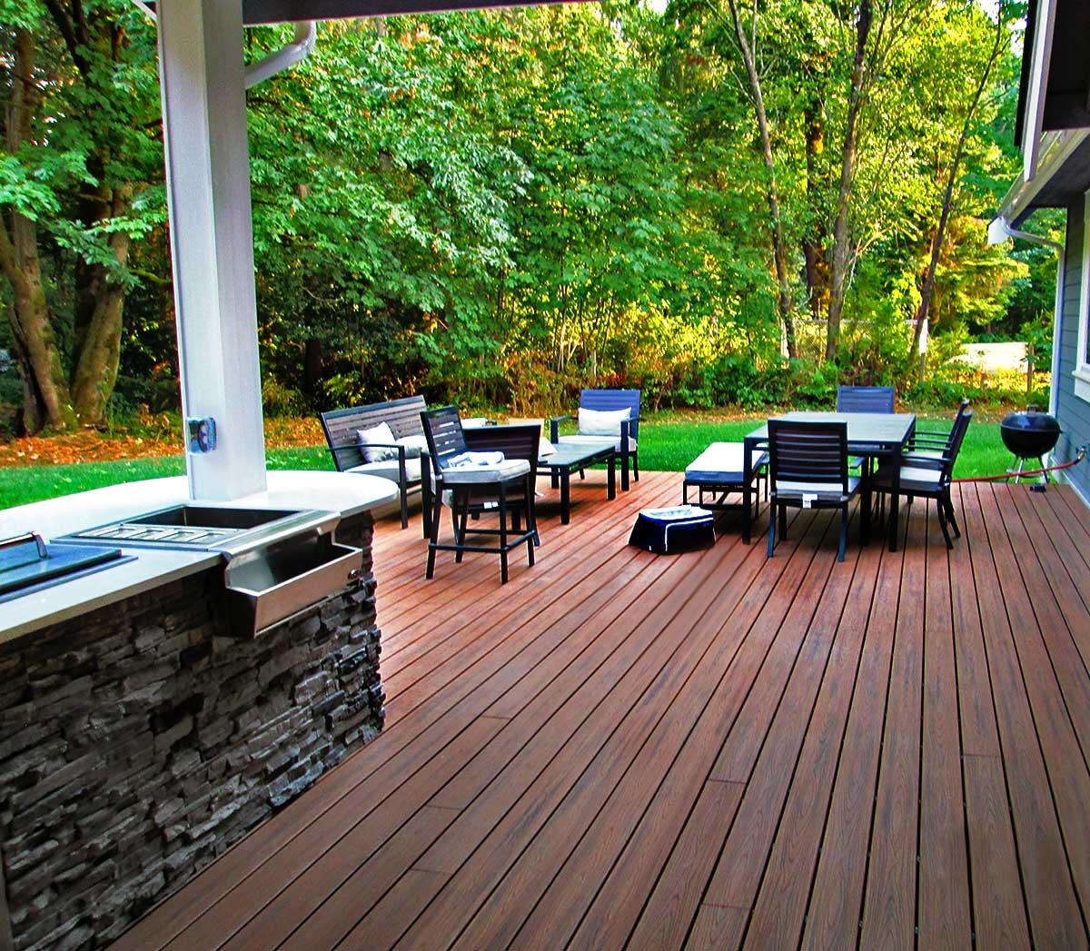 Gerber Residence-Back Deck Kitchenette & Dining Area Remodel