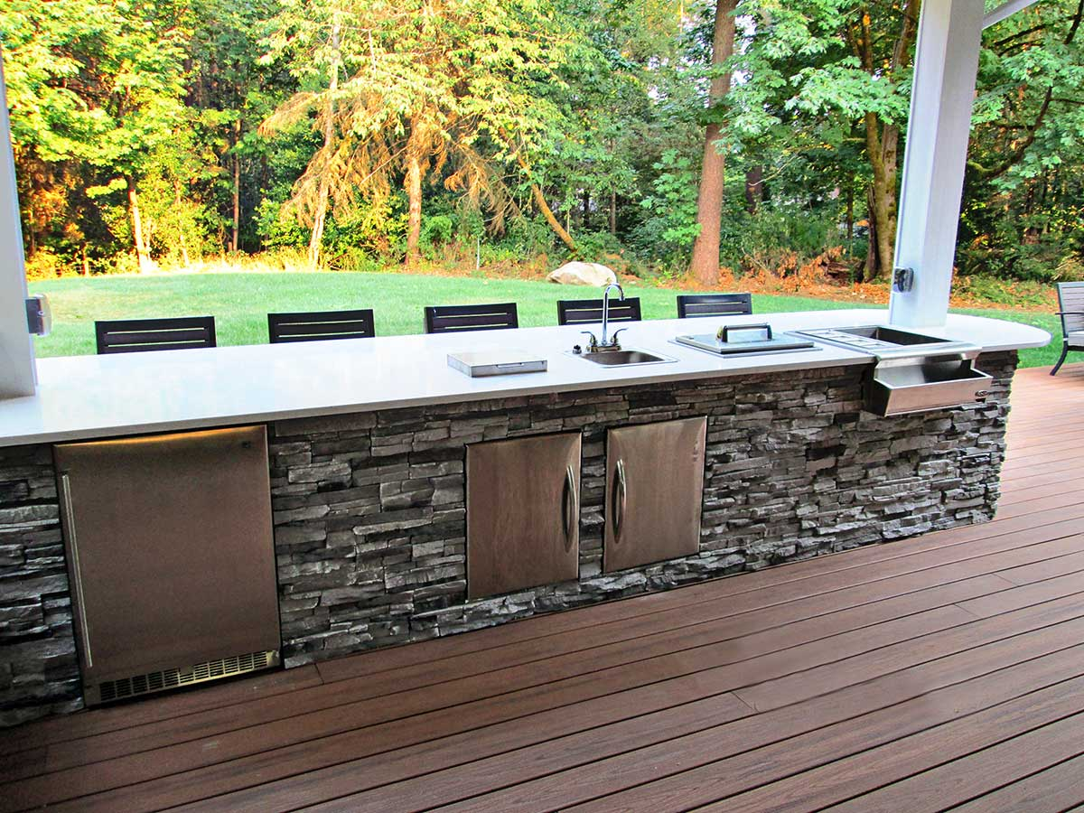 This Back Patio Remodel Was Done To Create A More Open And Spacious Back  Deck For Hosting Guests As Well As An Enclosed Outdoor Kitchenette U0026 Dining  Area.
